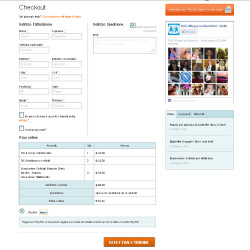 ecommerce solidale checkout