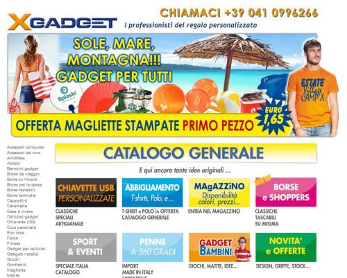 xgadget di Mestre, homepage