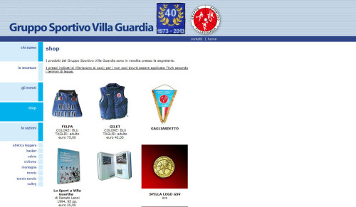 shop gruppo sportivo villa guardia