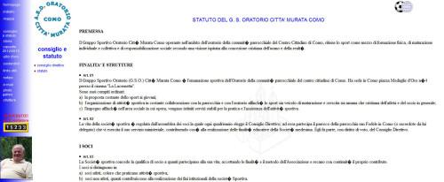 sito ASD oratorio città murata di Como