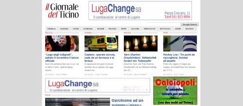 sito del giornale del ticino homepage