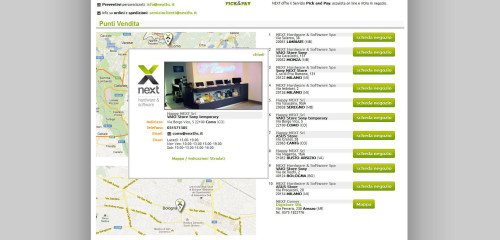 sito nexths punti vendita
