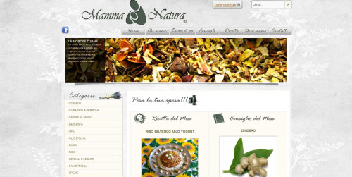 sito mamma natura di milano homepage