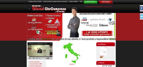 cinesi che comprano homepage