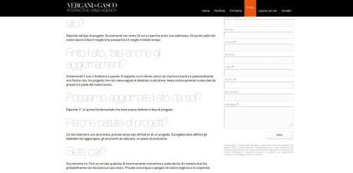 migliore web agency in italia 2014: vergani e gasco