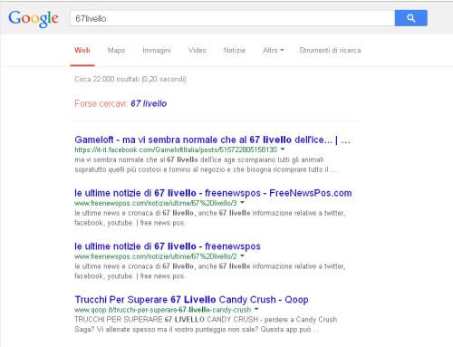67 livello agenzia su google