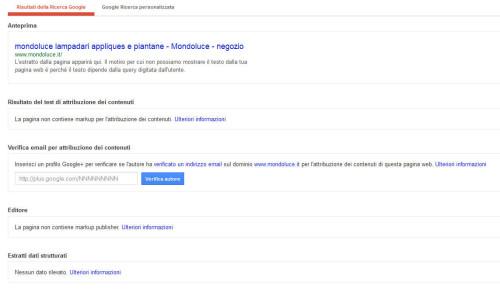 mondo luce negozio: markup Google
