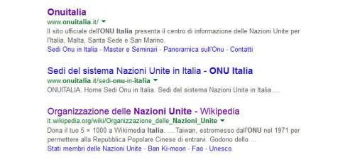 sito unicri onu italia su google