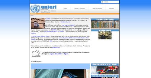 sito unicri: onu italia homepage