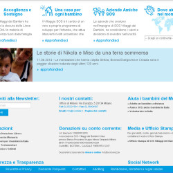 sito per associazione noprofit homepage footer
