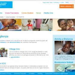 sito per associazione noprofit pagina interna
