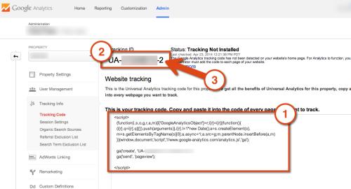 codice UA di analytics: id monitoraggio