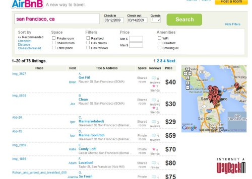 analisi seo ux airbnb 2009