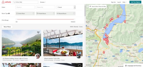 analisi seo e ux airbnb: landing page