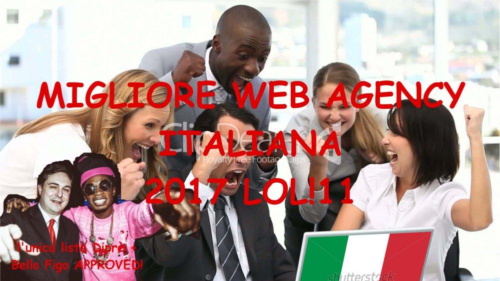 Top 10: migliore web agency italiana 2017