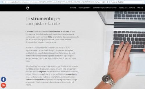 migliore web agency italiana 2017: coriweb