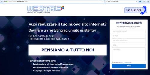 migliore web agency italiana 2017: webtre
