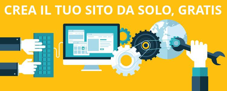 creare sito web gratuito da solo